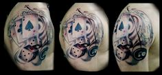 Gambling tattoo. Custom tattoo. Artist George Apostolopoulos