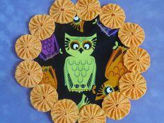 Cute Lime Green Owl  yo yo doilypenny rug style by SursyShop, $8.00