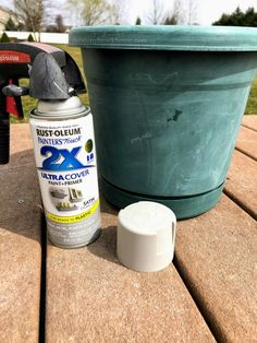 How To Makeover A Plastic Pot With Joint Compound