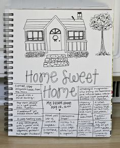Home journal page