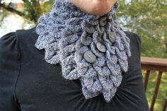 Crochet PATTERN Crocodile Stitch Neckwarmer  by bonitapatterns, $5.00