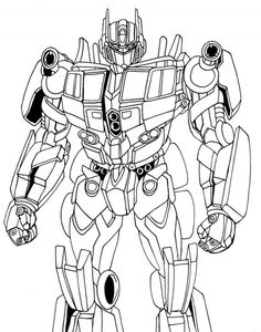 Optimus Prime Coloring Pages for Kids - Enjoy Coloring