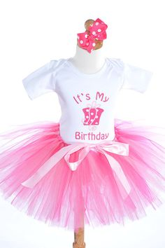 Its My Birthday Girls Outfit - Embroidered Birthday Set - Size 6M to 6Y on Etsy, $49.99