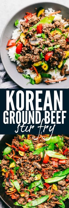 Korean Ground Beef Stir Fry is incredibly easy to make and has the best flavor! - Korean Ground Beef Stir Fry is incredibly easy to make and has the best flavor! This is a recipe - Ground Beef Stir Fry, Korean Ground Beef, Healthy Ground Beef, Ground Beef Recipes Asian, Korean Beef, Stir Fry In A Wok, Low Carb Recipe Ground Beef, Easy Ground Beef Meals, Ground Beef Mushroom Recipe