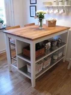 Einrichten 41 Who Else Wants To Learn About Small Butcher Block Island Diy Kitchen Carts 161 - Decor Kitchen Island Storage, Farmhouse Kitchen Island, Modern Kitchen Island, Kitchen Island With Seating, Ikea Kitchen, Modern Kitchen Design, Kitchen Decor, Kitchen Carts, Ikea Island Bench