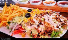 Delicious Shawarma Plate with Sauces - Street Food - Agadir, Morocco