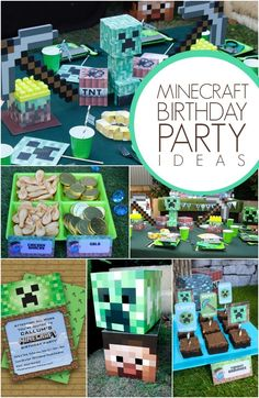 Minecraft Birthday Party Ideas for Boys www.spaceshipsandlaserbeams.com