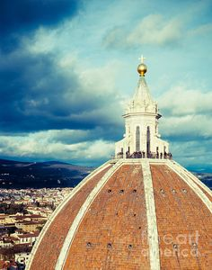 Florence, Italy. 'On Top of The Duomo' Photo by Sonja Quintero. Print via Fine Art America