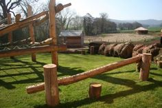 backyard landscape natural playground | Natural Playgrounds