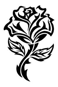 Rose with cross wood burning and carving - Yahoo Image Search Results Tribal Rose Tattoos, Flower Tattoos, Body Art Tattoos, Tatoos, Rose Stencil, Stencil Art, Stencils, Plasma Cutter Art, Glass Engraving