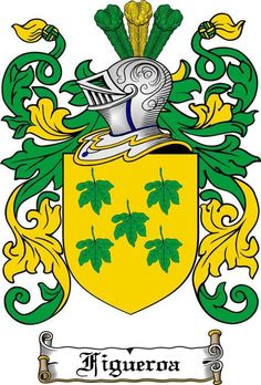 FIGUEROA FAMILY CREST - COAT OF ARMS gifts at www.4crests.com