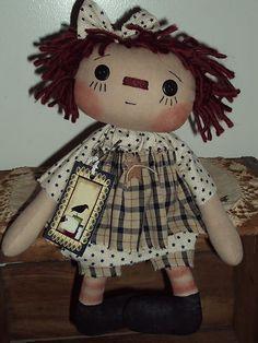 Primitive Raggedy Ann Sheep Crow Star Rag Doll Annie | eBay