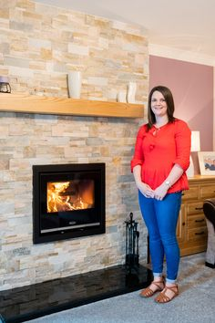 "Karen Hunter from County Tyrone had the SOLIS I 900 installed to replace their open fire which was draughty. ""We sometimes had to put a draft stopper outside the door of that room as the draft was coming into the house through the chimney. Stanley Stove, Insert Stove, Draft Stopper, Open Fires, Living Room, House, Home, Haus, Sitting Rooms"
