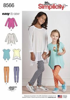 MAKE LEGGINGS~SKIRTS 4 STYLES EACH CHILD 3 TO GIRL 14 SEWING PATTERN CLOTHES