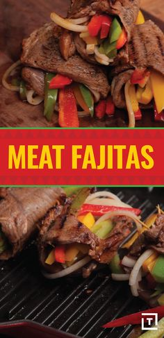 For when you just don't know what to make for dinner, Food Steez has got your back with these meat fajitas. The flank steak marinated in garlic, orange juice, and chili powder packs in a ton of protein, while the tri-color peppers and onions keep things looking colorful.