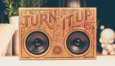 The Wooden Boombox is a portable music player built into a custom-designed and laser engraved wooden case. In short, it's the most visually appealing way t