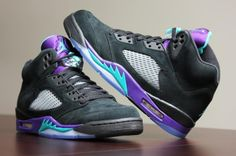 "Black AIR JORDAN 5 ""GRAPE"""