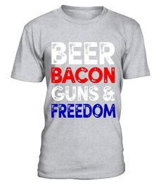 """# Beer Bacon Guns And Freedom T-Shirt Fourth of July Gift Tee .  Special Offer, not available in shops      Comes in a variety of styles and colours      Buy yours now before it is too late!      Secured payment via Visa / Mastercard / Amex / PayPal      How to place an order            Choose the model from the drop-down menu      Click on """"Buy it now""""      Choose the size and the quantity      Add your delivery address and bank details      And that's it!      Tags: Perfect Gift Idea for…"""