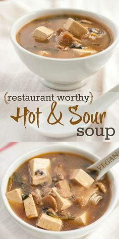 Hot and sour soup with tofu … make this recipe we promise it won't disappoint! #itssoygood