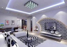 Superieur Living Room Decorating Ideas Deco Placo, Moderne, Maison, Rideaux En Plein  Air,