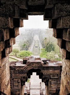 The view across the countryside from within the ninth-century Borobudur temple complex—a UNESCO World Heritage Site. Photograph by Chris Court