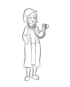 Female And Male Nurse Coloring Page Coloring Pages