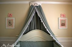 DIY Bed Crown and Crib Canopy | My Love of Style – My Love of Style