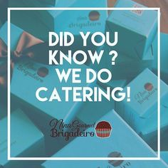 Yes we do !!! You can learn more at our site www.ninabrigadeiro.com/catering #catering #dallas #chocolate #corporate…
