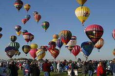 hot air balloon ride in albuquerque!