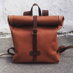 Leather backpack leather back pack leather by MoonshineLeather
