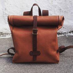 Leather backpack leather back pack leather by MoonshineLeather
