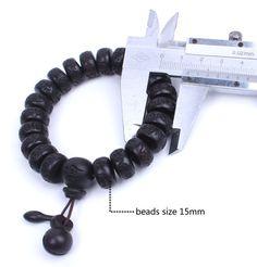 Tibetan Buddhism Wood Mala Prayer Beads OM Mani Padme Hum Lucky Bracelets | eBay
