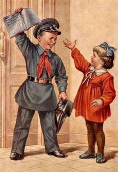 Assessment of the Five / Soviet Postcard Vintage / Artist Belle Epoque, Socialist Realism, Russian Art, Military Art, Vintage Children, Vintage Postcards, Vintage Art, Vintage Items, Images