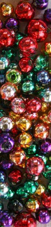 Round mercury glass beads in many sizes, made in the Czech Republic for Christmas tree garlands