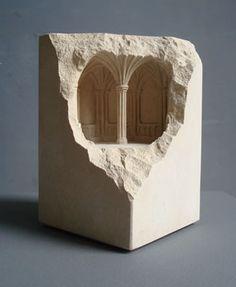 Gorgeous tiny stone sculptures. Chapter House 2007 limestone, 10 X 10 X 12cm