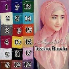 Hijab Instan Bando Cantik Model 2017 Harga Murah engan aksesori bando swarovsky sintetis Bahan : cerruti Keterangan warna : Salem (ON MODEL) - Ungu - Abu