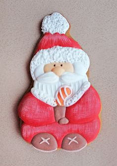 Новый год  Пряник имбирный Санта Клаус