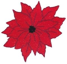 Christmas Poinsetta Filled - 4X4! | Floral - Flowers | Machine Embroidery Designs | SWAKembroidery.com