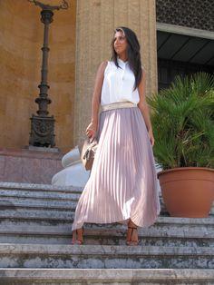 i love plissè... #ootd #fashion #blogger #long #skirt #lasciarpaviola