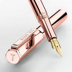 Buy Ted Baker Fountain Pen, Rose Gold from our View All Pens & Pencils range at John Lewis & Partners. Rose Gold Aesthetic, Cool School Supplies, Rose Gold Decor, Cute Stationary, Cute Pens, Writing Instruments, Cool Things To Buy, Stuff To Buy, Ballpoint Pen