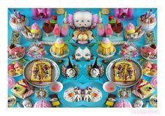 The Table of Wonders pop surrealism, art , skull, dia de los muertos, calavera, kitsch , gothic, baroque, photography, still life, butterfly, valentine's , kawaii, lollipop, marshmallow, candy, cute , gothic kawaii, creepy, cristina burns, popsurrealism, tattoo, skeleton, teschio, scheletro, napoli, italian art , shrine, ice cream, insect bug, sweet table, doll, capi gallery, food