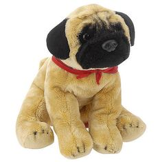 FAO Schwarz 10 inch Floppy Dog Plush - Pug  - FAO Schwarz -  Cats & Dogs - FAO Schwarz®