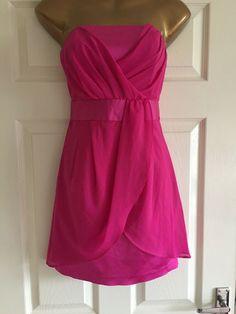 9c88d8e2d16 Cerise Pink Jane Norman Size 10 Cocktail Party Dress  fashion  clothing   shoes