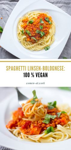 Vegane Spaghetti Linsen-Bolognese Bolognese, Spaghetti, Veggie Pasta, Food Porn, Ethnic Recipes, Summer Vibes, Healthy Food Recipes, Fish Dishes, Vegetarian Pasta Dishes