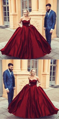 dark red wedding dresses,satin ball gown wedding dress,sweetheart prom dress ball gowns,maroon wedding dress,burgundy wedding dress,wedding gowns 2018
