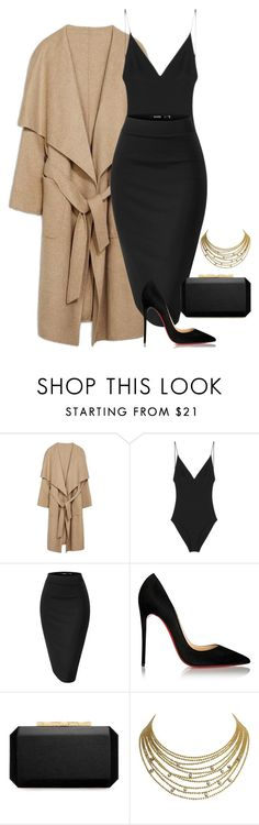 """."" by owl00 ❤ liked on Polyvore featuring Dion Lee, Christian Louboutin, Oscar de la Renta and Cartier"