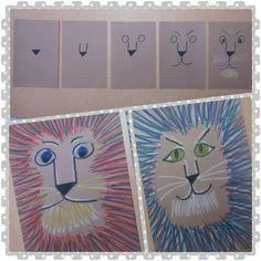 Kim & Karen: 2 Soul Sisters (Art Education Blog): LeRoy's Lions (LeRoy Neiman, that is...)