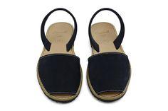 Castell Avarcas Women's Classics Dark Navy Leather Slingback Sandals - THE AVARCA STORE