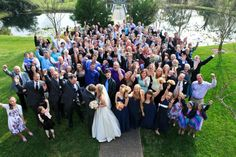Balcony group picture after the wedding.