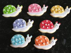 Snail Cookies by Sweet Treacle, via Flickr